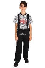 Подростковые для мальчика зимние горнолыжные брюки черного цвета 817Ch