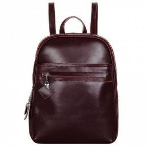 Рюкзак из натуральной кожи бордовый