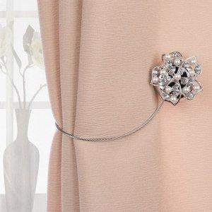Подхват для штор «Цветок». d = 5 см. цвет серебряный