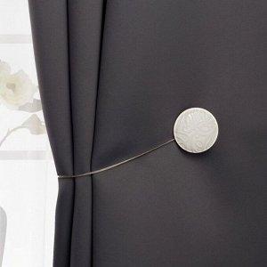 Подхват для штор «Круг». d = 4 см. цвет бежевый/белый