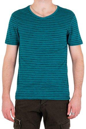 Футболка Модель круглый вырез. Цвет зелёный. Комплектация футболка. Состав хлопок-60%, полиэстер-40%. Бренд SAMO. Фактура полоса