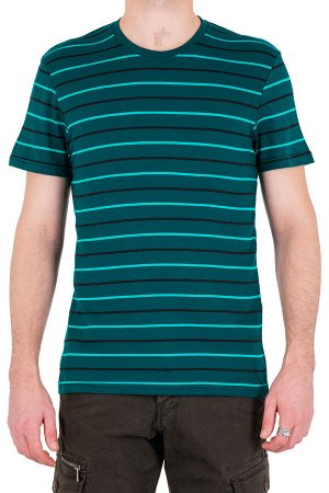 Футболка Модель круглый вырез. Цвет зелёный. Комплектация футболка. Состав хлопок-90%, полиэстер-10%. Бренд SAMO. Фактура полоса