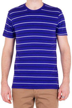 Футболка Модель круглый вырез. Цвет фиолетовый. Комплектация футболка. Состав хлопок-90%, полиэстер-10%. Бренд SAMO. Фактура полоса