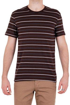 Футболка Модель круглый вырез. Цвет коричневый. Комплектация футболка. Состав хлопок-90%, полиэстер-10%. Бренд SAMO. Фактура полоса