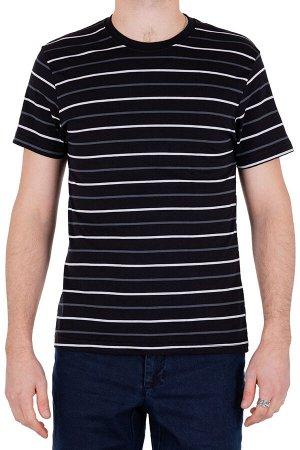 Футболка Модель круглый вырез. Цвет чёрный. Комплектация футболка. Состав хлопок-90%, полиэстер-10%. Бренд SAMO. Фактура полоса