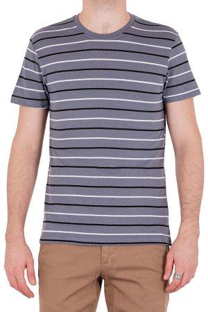Футболка Модель круглый вырез. Цвет серый. Комплектация футболка. Состав хлопок-90%, полиэстер-10%. Бренд SAMO. Фактура полоса
