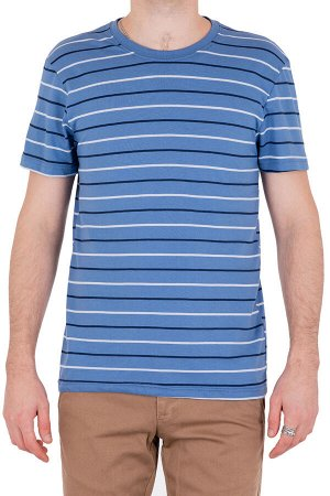 Футболка Модель круглый вырез. Цвет синий. Комплектация футболка. Состав хлопок-90%, полиэстер-10%. Бренд SAMO. Фактура полоса