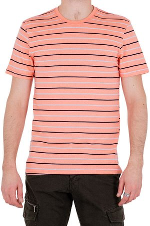 Футболка Модель круглый вырез. Цвет розовый. Комплектация футболка. Состав хлопок-90%, полиэстер-10%. Бренд SAMO. Фактура полоса