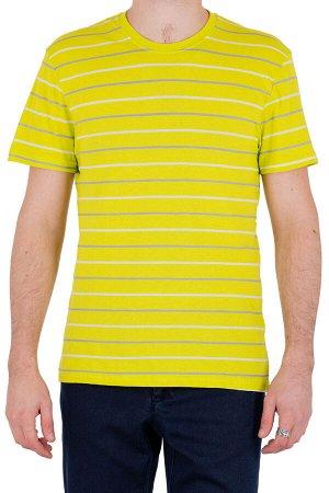 Футболка Модель круглый вырез. Цвет жёлтый. Комплектация футболка. Состав хлопок-90%, полиэстер-10%. Бренд SAMO. Фактура полоса
