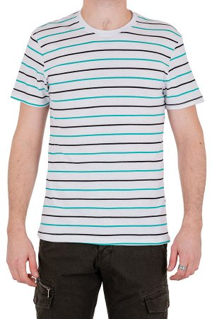 Футболка Модель круглый вырез. Цвет белый. Комплектация футболка. Состав хлопок-90%, полиэстер-10%. Бренд SAMO. Фактура полоса