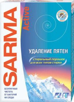 СМС порошок САРМА 400г Active Горная свежесть Универсал д/цвет.белья
