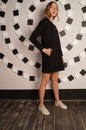 Платье в спортивном стиле - PLAY - 444 - черный