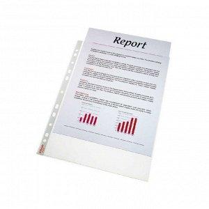 Папка-вкладыш с перфорацией, файл, А4, DeLuxe, 105мкм, глянцевая