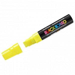 """Маркер меловой MunHwa """"Black Board Jumbo"""" желтый, 15мм, водная основа"""