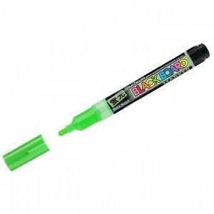 """Маркер меловой MunHwa """"Black Board Marker"""" зеленый, 3мм, водная основа"""