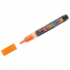 """Маркер меловой MunHwa """"Black Board Marker"""" оранжевый, 3мм, водная основа"""