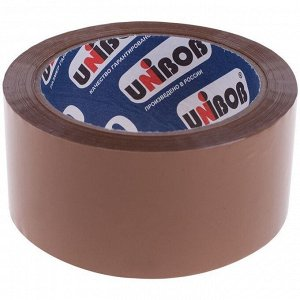Клейкая лента упаковочная Unibob, 48мм*66м, 45мкм, темная