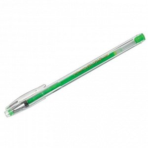 """Ручка гелевая Crown """"Hi-Jell Color"""" светло-зеленая, 0,7мм HJR-500H"""