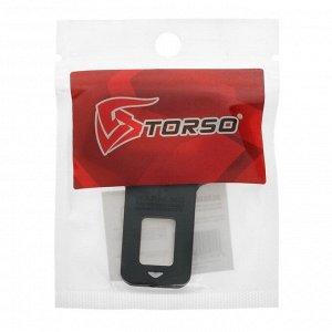 Заглушка ремня безопасности TORSO, с функцией открывашки, металлическая