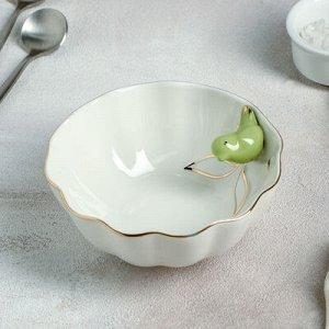 "Салатник ""Калибри"" 12,5х5 см, цвет зеленый"