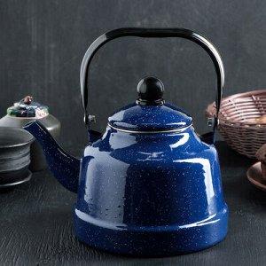 """Чайник 2,5 л """"Синий мрамор"""" 24х17х26 см"""