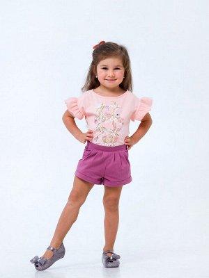Розовый персик Футболка для девочек