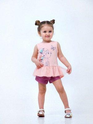 Розовый персик Майка-туника для девочек