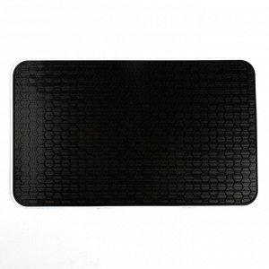 Коврик противоскользящий 27,5x17 см, соты, черный,