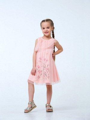 Розовый персик Сарафан для девочек