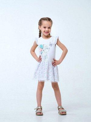 Белый Сарафан-платье для девочек