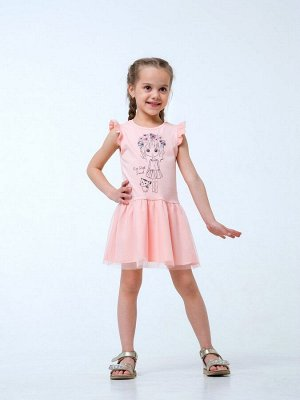 Розовый персик Сарафан-платье для девочек