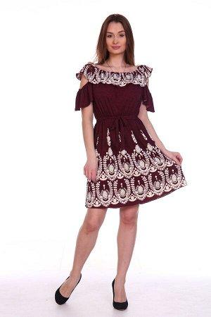 Платье Ришелье вишневое