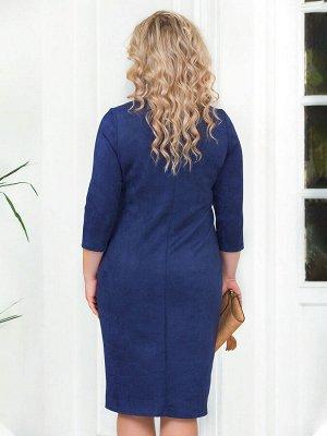 Платье Светло-серый, синий, кофе, сливовый, песочный, фиолет, Светло-Коричневый, Оливковый, Бордовый,зеленый,  Чёрный. Вискоза - 88%, Полиамид - 6%, Лайкра - 6%.  из мягкой эко-замши на трикотажной ос