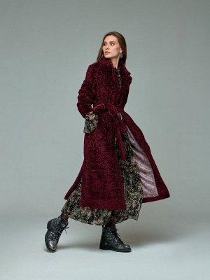 Пальто женское Марсала