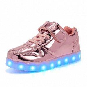 Светящиеся LED кроссовки для девочки 518rose