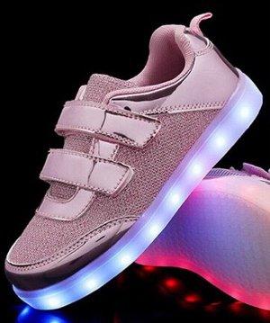 Светящиеся LED кроссовки для девочки A01rose