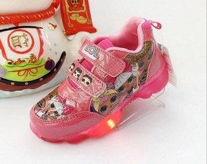 Светящиеся кроссовки на батарейках (фуксия) KRSW26