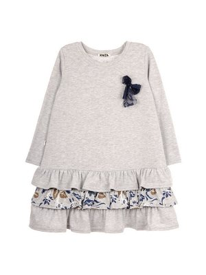 Платье 1053 серо-синий