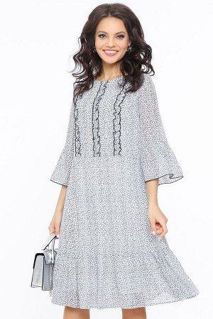 Платье Тонкая штучка, вайт, с ремешком