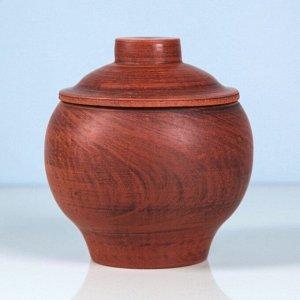 Горшочек для запекания, красная глина, 0,5 л