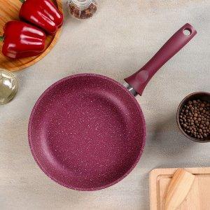 Сковорода Trendy style, d=22 см, с ручкой, АП линия, цвет мистерия