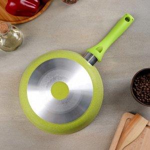 Сковорода Trendy style, d=22 см, с ручкой, АП линия, цвет лайм