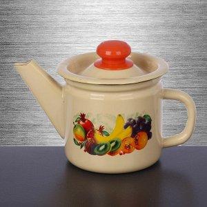 Чайник заварочный 1 л, фиксированная ручка, цвет бежевый