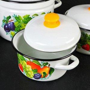 Набор посуды «Джем», 5 предметов: Кастрюли: 2 л, 3 л, 5 л, 8 л, Чайник 3 л