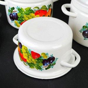 Набор посуды «Джем», 5 предметов: Кастрюли 3 л, 6 л, 8 л, Чайник 3 л, Миска 4 л