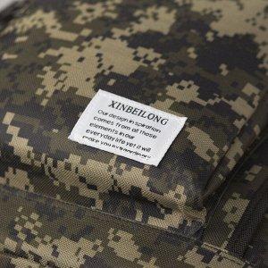 Рюкзак туристический, отдел на молнии, 2 наружных кармана, цвет хаки