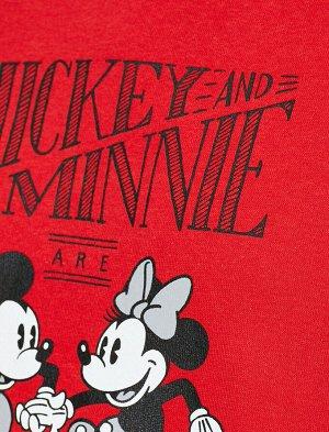 Толстовка красная с капюшоном Минни и Микки