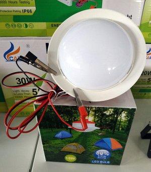 Светильник Проектор. 10 Вт 12 В с крокодилами. Отличный вариант для кемпинга или авто ремонта