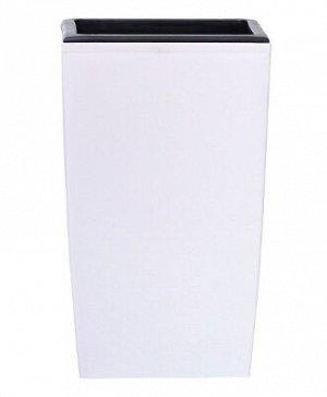 Кашпо для цветов COUBI SQUARE HIGH DUW160-S449 белый 2 предмета 3 и 4 л