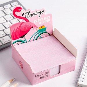 """Бумага для записей в коробке """"Фламинго"""" 250 листов 9 х 9 см"""